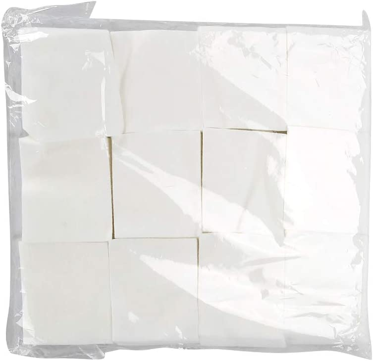 1200Pcs dissolvants de vernis /à ongles jetables Tampons de coton jetables de dissolvant de vernis /à ongles Tampons de coton