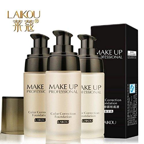 LAIKOU Make-up Basis Gesicht Flüssige Foundation BB Cream Concealer Whitening Moisturizer Oil-Steuerung Wasserdichte maquiagem