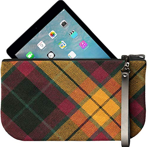 Small Tartan To Fit Macmillan Leather With Ipad Clutch Bag Mini Large Enough 4A6Hrq4a