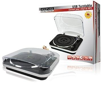 Konig - Conversor USB de discos de vinilo a MP3 con diseño de ...