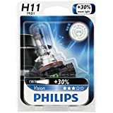 Philips H11 Vision Upgrade Headlight Bulb, 1 Pack