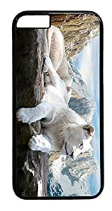 Iphone 4/4S Case, Lion Rock Mountains Designer Rugged Hard Plastic Back Case Cover Protector for Iphone 4/4S (4.7INCH) PC Black