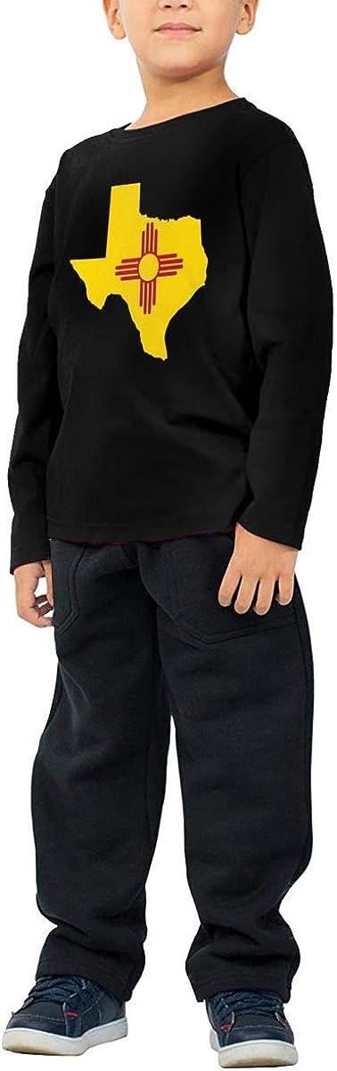 CERTONGCXTS Childrens Texas New Mexico Flag ComfortSoft Long Sleeve T-Shirt