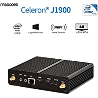 Msecore Fanless Mini PC With Intel Celeron j1900 Processor 4GB DDR3 RAM 64GB mSATA SSD