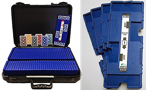 36 Imperial-Plus Duplicate Boards-Blue, 36 Decks Baron ALL-PLASTIC Cards & Carrying Case 6354B