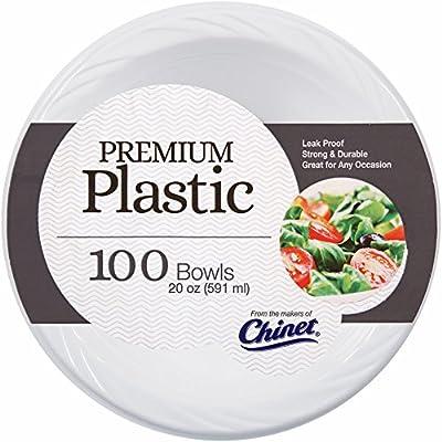 Amazon Com Chinet Plastic Bowls 20 Oz 100 Ct White Serving