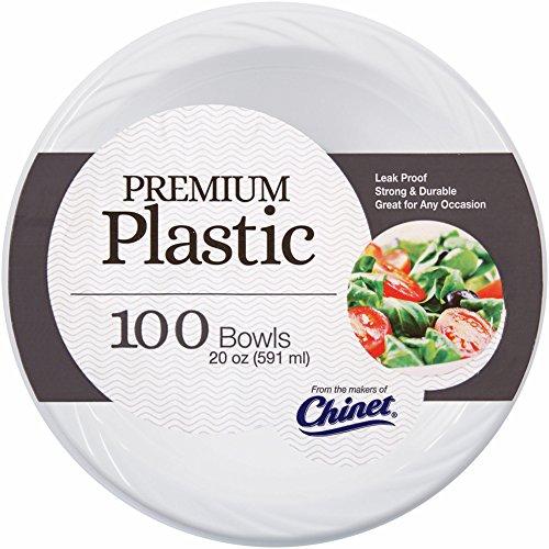 Chinet Plastic Bowls, 20 oz., 100 ct. - -