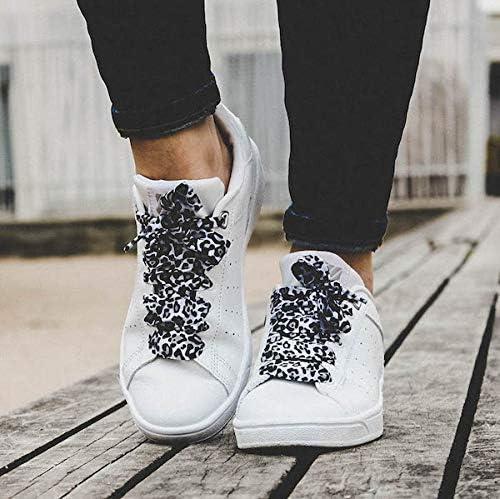 Furious Laces Lacets Léopard pour adultes 120cm Lacets originaux Lot de 2 paires de lacets Léopard Marron + Léopard Gris Customiser ses