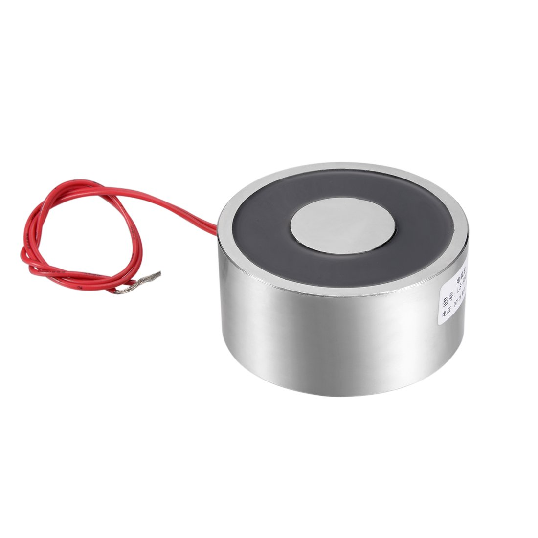 uxcell 80mm x 38mm Size DC12V 1000N Sucking Disc Solenoid Lift Holding Electromagnet