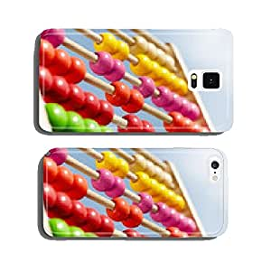 Coloured children abacus in front of blue sky cell phone cover case Samsung S6