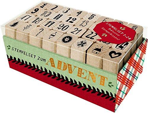 Holzstempel-Set – Stempelset zum Advent