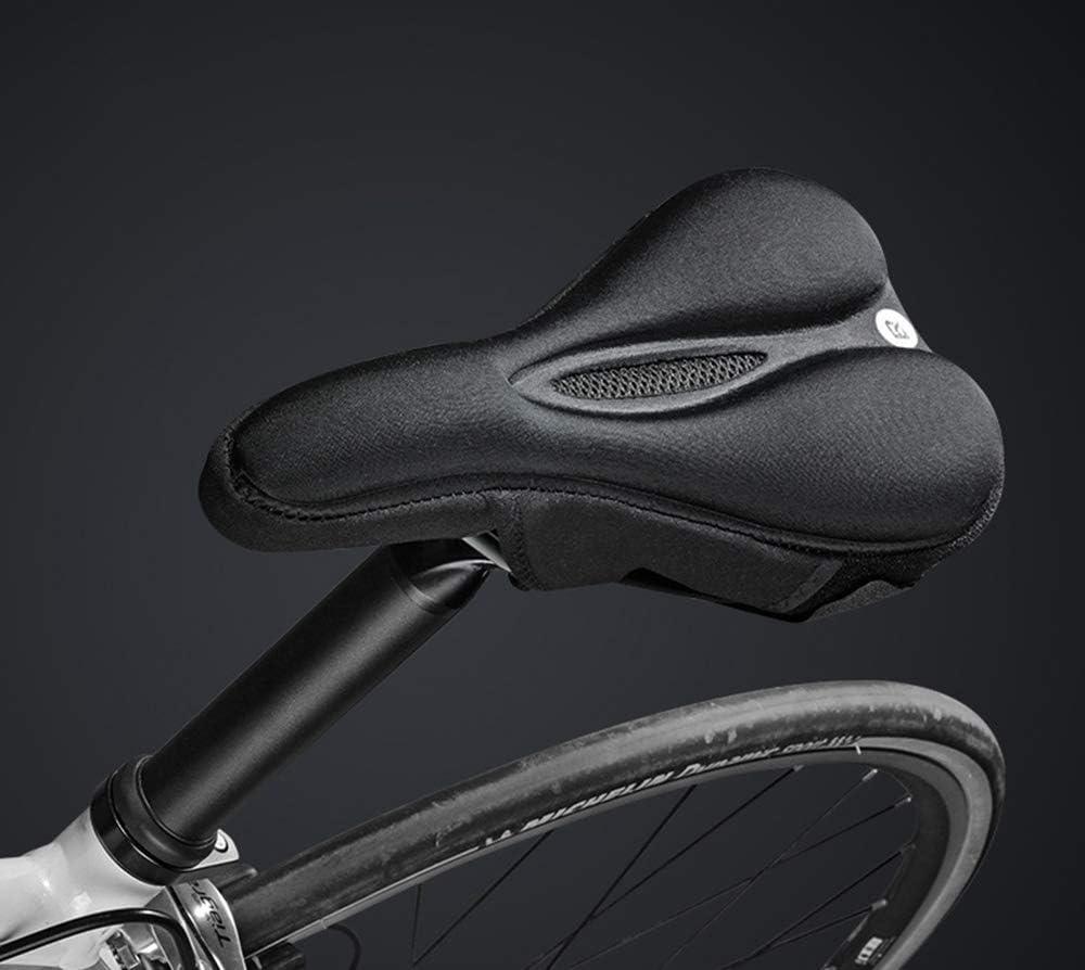 Hueca y Transpirable,Adecuado para el Sill/ín de Bicicleta de Monta/ña,para Bicicleta de Carretera,Monta/ña y Urbana,28 x 16 cm DXIA Sillin de Bicicleta,Cubierta de Asiento de Bicicleta