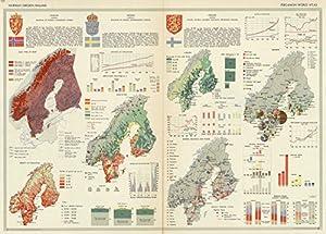 Amazon world atlas 1967 norway sweden finland pergamon pergamon world atlas historic antique vintage map reprint gumiabroncs Choice Image