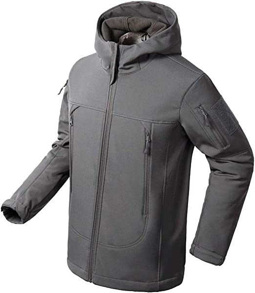 Flying Eagle Tactical Jackets Softshell Fleece Lined Water Repellent Jackets Winter Windproof Coat for Men