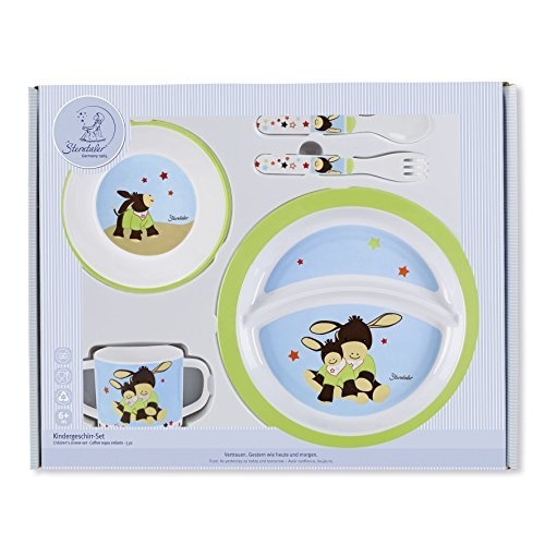 STERNTALER Baby Dinner Set (Emmi The Donkey, 5-Piece) by Sterntaler
