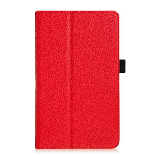 Fintie Premium Vegan Leather Case for ASUS VivoTab Note 8 M80TA Tablet (Windows 8.1) Slim Fit Stand Cover With Stylus Holder – Red