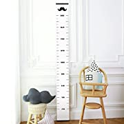 Chaeum Children's Height Growth Chart Measure Ruler Wall-hanging Decor for Kids, Moustache Styles