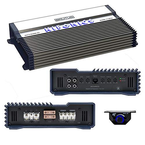 Hifonics BXX1600.1D Brutus Class D 1600W RMS 1 Ohm Mono Car Subwoofer Amplifier (1600 Amplifier Mono Watt)