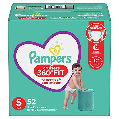 Diapers Size 5, 52 Count - Pampers Pull On Cruisers