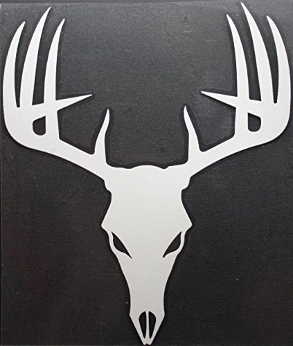 10 Point Skull Buck Deer Head Reflective CAR/Truck/Decal Sticker with Alcohol PAD ~ Size 6