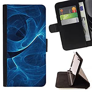 Momo Phone Case / Flip Funda de Cuero Case Cover - Azul remolina modelo;;;;;;;; - HTC Desire 820