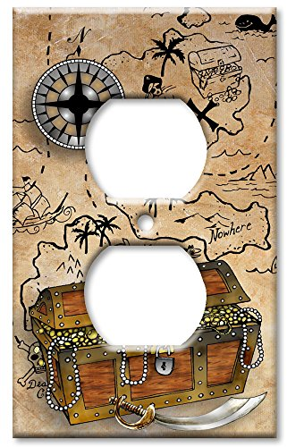 Outlet Cover Wall Plate - Treasure Chest
