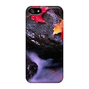 MyBox Case Cover Protector Specially Made For Iphone 5/5s Leaf Rocks Canada Rivers