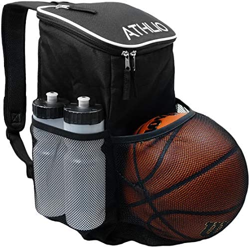 ATHLIO Gym Bag Backpack – Ball Equipment Pocket Sports Workout Travel Gear XL