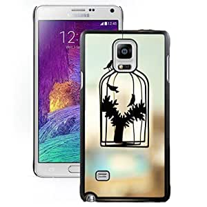 Abstract Caged Hard Plastic Samsung Galaxy Note 4 Protective Phone Case Custom SB.AO Case