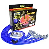 Taylor Cable 86628 ThunderVolt 8.2mm; 50 ohm Ferrite Core Performance Ignition Wire Set; Race/Custom Fit; 90 deg. Plug Boot; HEI; Over Valve Cover; Chevy Small Block; Blue;