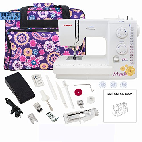 Janome Magnolia 7325 Sewing Machine with Exclusive Bonus Bundle by Janome