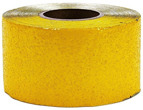 - ifloortape Yellow Outdoor Basketball Court Marking Tape for Asphalt and Concrete with Reflective Surface 4 Inch x 150 Foot Roll