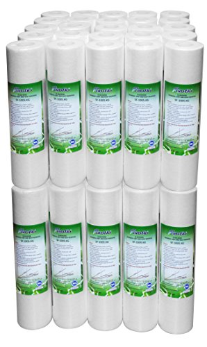 2.5' Filters - Sediment Filter Cartridges, 5 Micron, 10'' x 2.5'', NSF Certified, 50-Pack