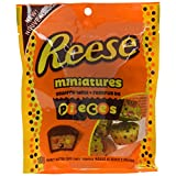 REESE Pieces Peanut Butter Cups, Halloween Chocololate Candy, Miniatures, 180 Gram