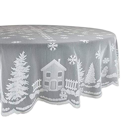 Tablecloth,YJYDADA White Lace Tablecloth Christmas Holiday Party Dinner Table Cover Home Decor (B:178cm in ()