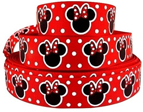 1 metro de Minnie Mouse personaje de red dot ribbon 7/8