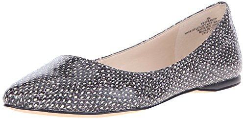 Nine West WomenS Speakup Synthetic Ballet Flat, Off White/Black, 37.5 B(M) EU/5.5 B(M) UK