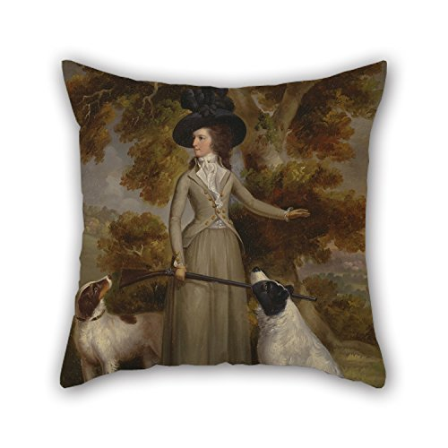 Jones Tones Foil (Alphadecor 16 X 16 Inches / 40 By 40 Cm Oil Painting George Haugh - The Countess Of Effingham With Gun And Shooting Dogs Throw Pillow Case,each Side Is Fit For Car,dance Room,boy Friend,car,car Sea)