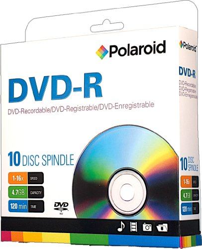 Polaroid PRDVDR0010S 120 Minute Recordable 10 Pack