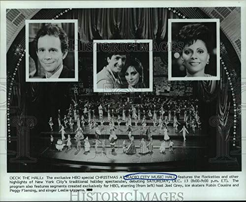 Music City Photos Hall Radio - Vintage Photos 1986 Press Photo Home Box Office to Show Christmas at Radio City Music Hall
