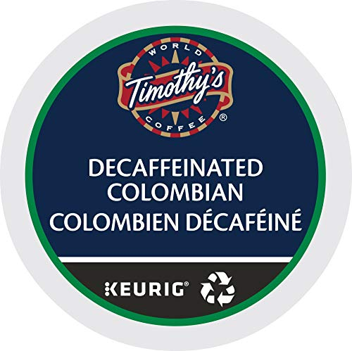 Timothys World Coffee DECAF Colombian 4 Boxes of 24 K-Cups for Keurig Brewers (Packaging May Vary)