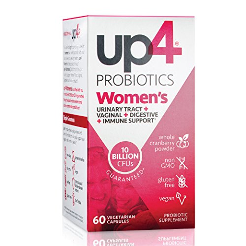 Acidophilus Urinary Tract - up4 Women's Probiotic Supplement | Urinary Tract + Vaginal + Digestive + Immune Support* | Probiotics for Women that are Non-GMO, Gluten Free, Vegan | 60 Capsules