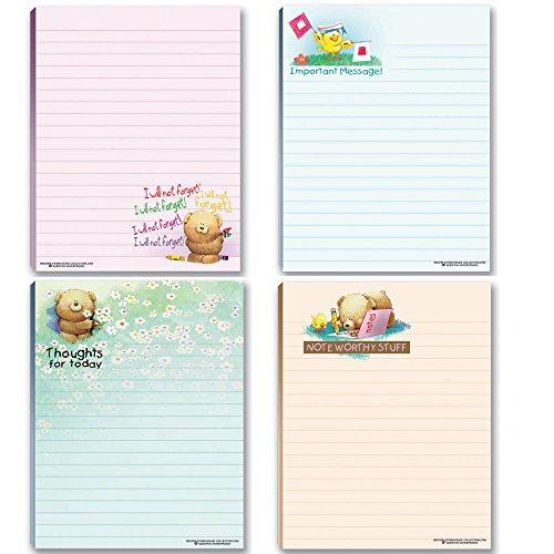 (Cute Notepads - 4 Assorted Pads - Sweet, Feel Good Notepads - Great Gift Idea, 50 Sheets Each)