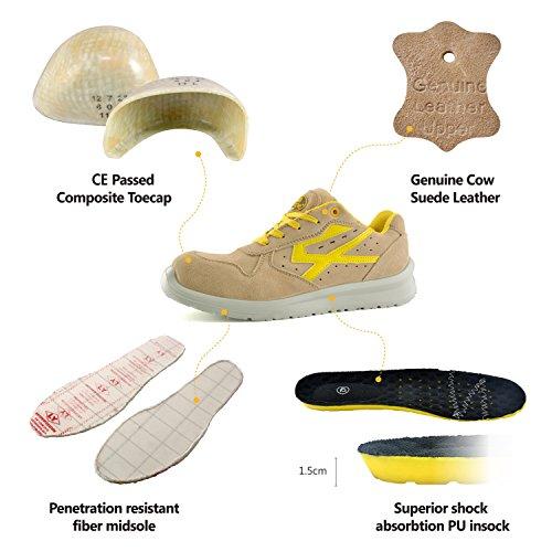 safetoe Basket de Sécurité avec Protection en Composite Kevlar Jaune Taille 38