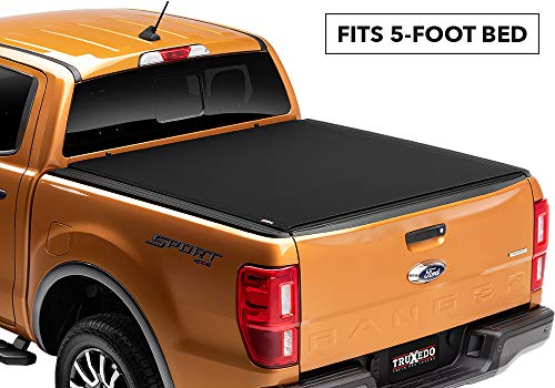 Truxedo 1431001 fits 2019 Ford Ranger 5' Pro X15 Soft Roll Up Truck Bed Tonneau Cover
