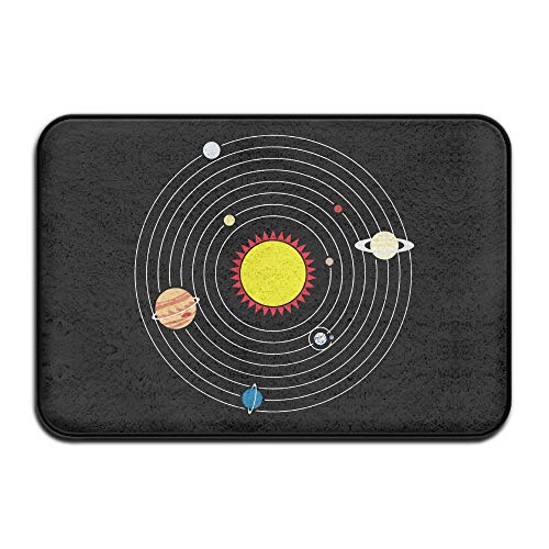 Solar System Planets Doormat Door Mats Mats Bathroom Rugs for Indoor Outerdoor Bathroom by Ynghbgh Mats