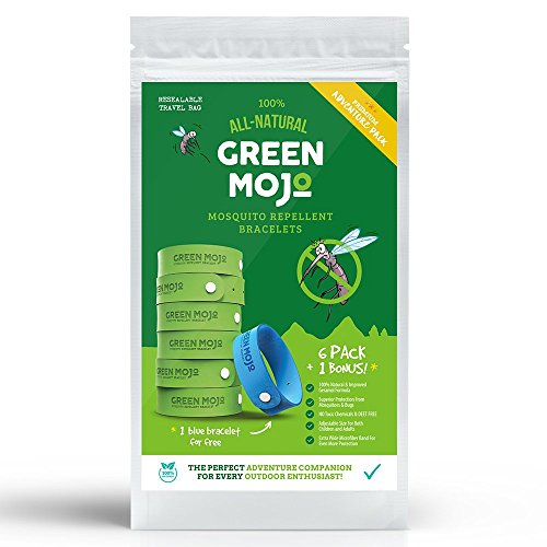 Green-Mojo-100-Natural-Mosquito-Repellent-Bracelet-Six-6-Pack-1-Bonus-Safe-Easy-Personal-Mosquito-Repeller-Extra-Wide-For-Perfect-Outdoor-Insect-Repellent-Safe-for-Kids