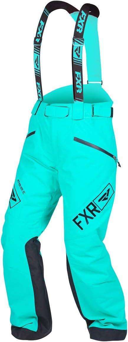 New 2019 FXR Women/'s Vertical Pro Snowmobile Pants Bibs Black//Mint 10 14