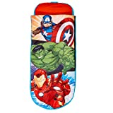 Readybed Marvel Avengers Junior Bed, Polyester, Red, 75 x 75 x 90 cm