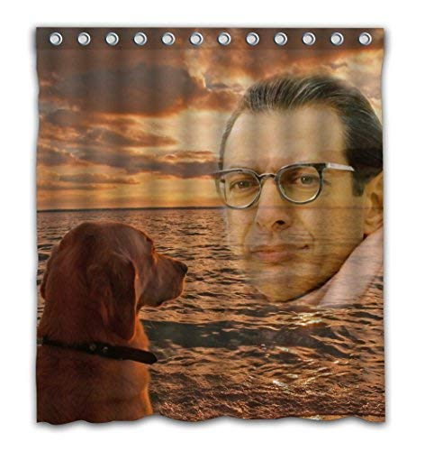 Delean Custom Miss You Mr Goldblum Fabric Water-Proof Shower Curtain Printed for Bathroom Decoration 60x72 ()